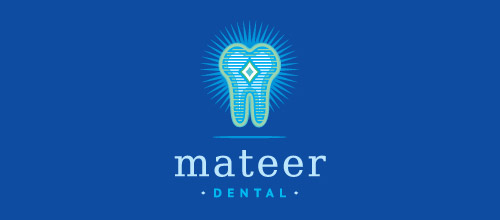 mateer tooth logo design