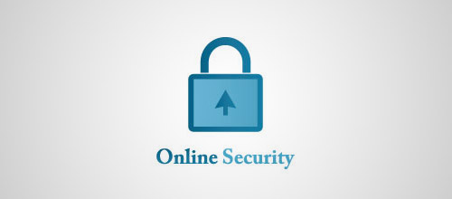 online security padlock logo designs