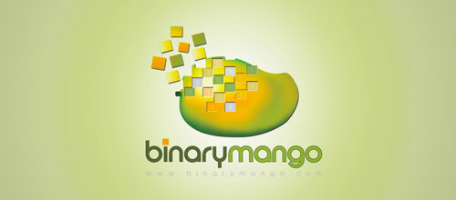 binary mango logo design