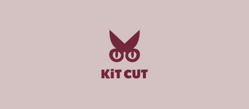 kit cuts scissors logo design