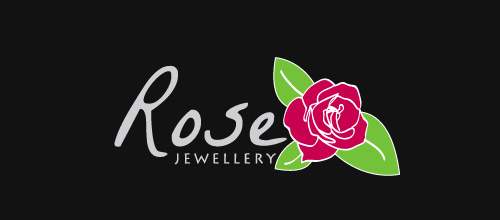 rose jewellery logo design
