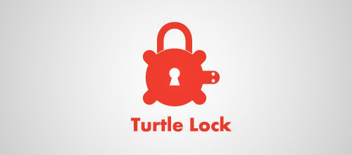 turtle padlock logo designs