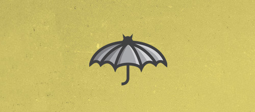 umbrella bat logo design