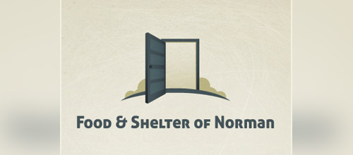 food shelter door logo designs