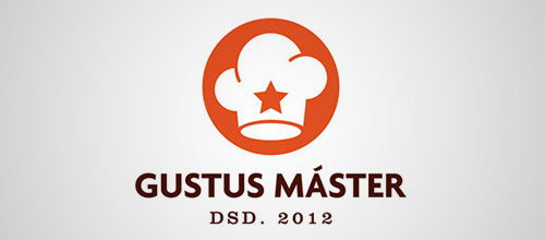 gustus chef hat logo designs