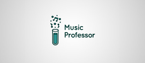music professor tube logo designs