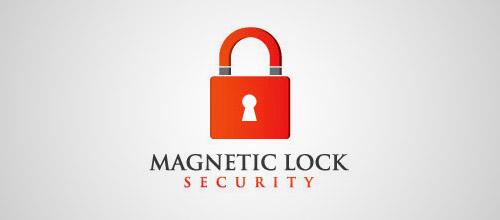 magnetic lock logo designs