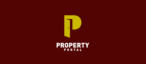 property portal door logo designs