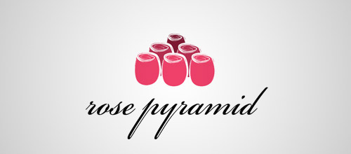 rose pyramid logo design