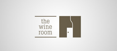 wine room door logo designs