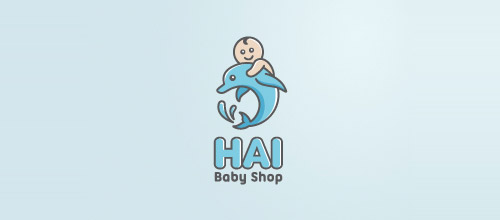 baby shop logo design