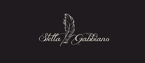 stylish feather logo