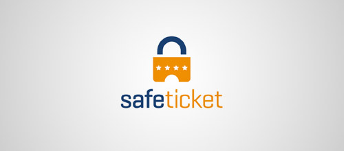 safe ticket lock logo designs