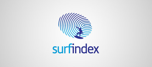 surfindex fingerprint logo designs