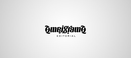 ambigrama editorial logo design