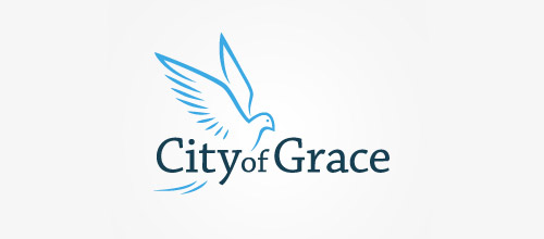 city of grace dove logo designs
