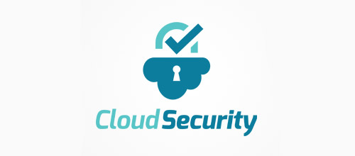 cloud security padlock logo designs