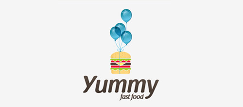 cute burger logo design