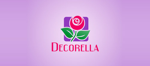 decorella rose logo design