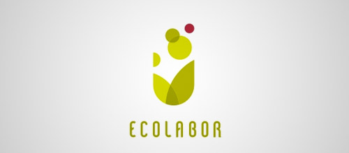ecolabor tube logo design