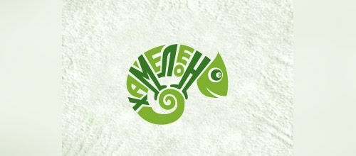 band chameleon logo design