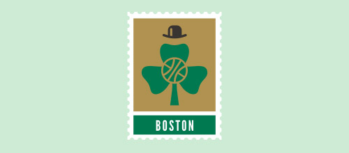 boston Celtics clover logo designs