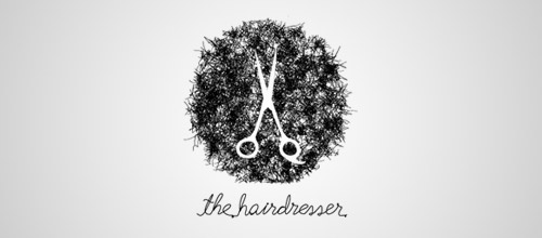 hairdresser scissors logo design