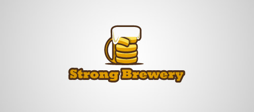 strong brewery beer logo designs