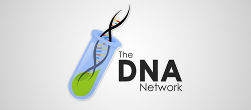 The DNA network tube logo design