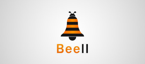 bee bell logo design