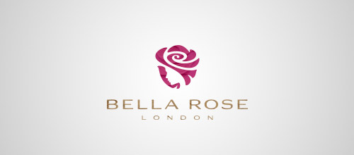 bella rose logo design
