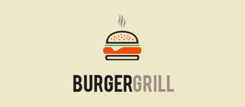 burger grill logo design