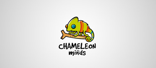 chameleon minds logo design