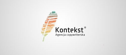kontekst feather logo design