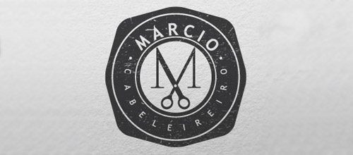 marcio scissors logo design