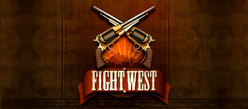 fight west gun logo design
