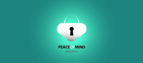peace mind lock logo designs