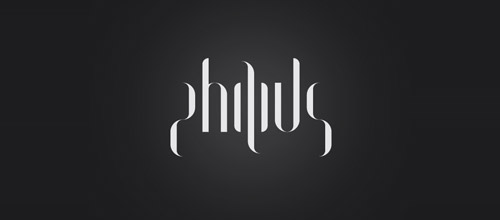 philius ambigram logo design