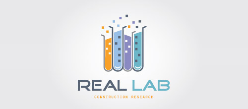 real estate lab logo design