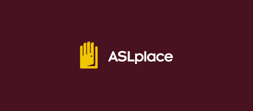 asl place door logo designs