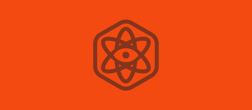 atom hexagon logo