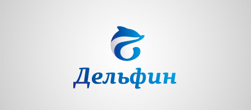 dolphin blue logo design