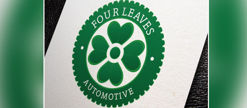four leaves clover automotive logo designs