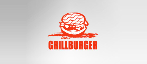 grill burger logo design