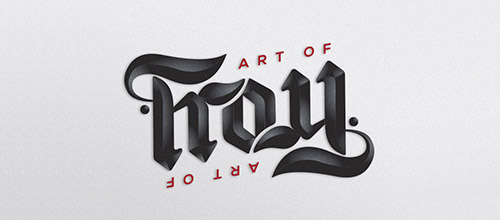 art of troy ambigram logo design