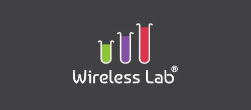 wireless lab tube logo designs