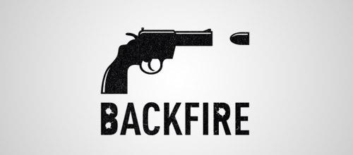 backfire gun logo design