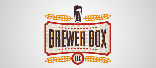 brewer box beer logo designs