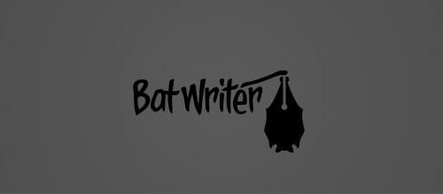 bat logo writer design