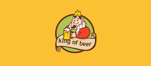 king of beer logo designs